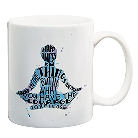 Amazon.com: Happiness Quote Taza de café 11 oz regalos de ...