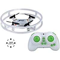 Super Durable Nano Mini Drone Space Trek UFO RC Quadcopter 2.4GHz 4 Axis Gyro RC Aircraft Protective Bull bars Mini Helicopter with 3D Flip & Flash Light