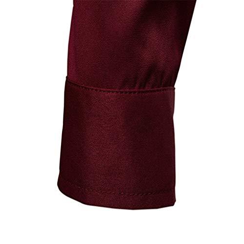 Maniche Lunghe Uomo Con Tops Dolcevita Distintivo Cappuccio Classico Inverno Sweatshirt Cappotto Vino Camicetta J Maglione Felpa Hoodie Elegante Collo Qinsling Cerniera 0q88d