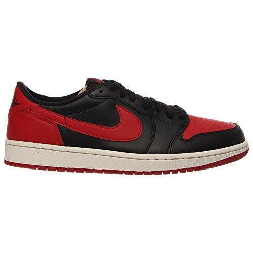 Nike Air Jordan 1 Retro Low Og, Zapatillas de Deporte Exterior para Hombre Negro / Rojo (Black / Varsity Red-Sail)