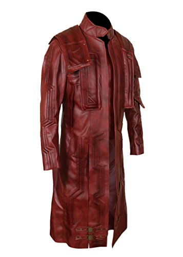 F&H Boy's Genuine Leather Guardians of the Galaxy Vol 2 Chris Pratt Star Lord Coat