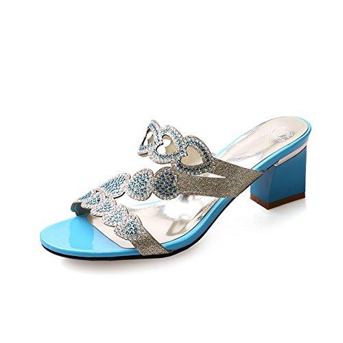 AdeeSu - Zapatos con tacón mujer Azul