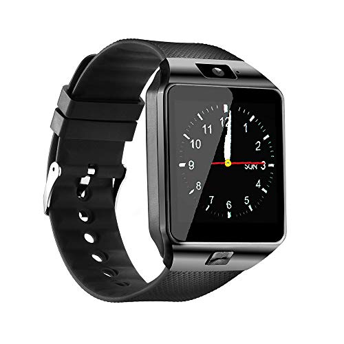 Qidoou Smart Watch Bluetooth Fitness Tracker Android iOS Compatible Smartwatch of SIM SD Card Slot, Waterproof Pedometer Sleep Calorie Monitor Call/Message Music Clock for Women Kids Men (Black) (Best Android Fitness Tracker)