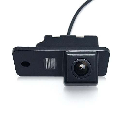 Waterproof Backup Camera HD Color License Plate Car Rear View CCD with 170 Degree Viewing Angle Night Vision for Audi A3 A4 (B6/B7/B8) Q5 Q7 A8 S8 (Model 1 =0728 ()