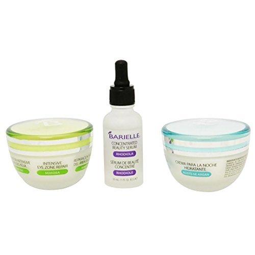 Barielle Essentials Night Time Skin Care Regimen 3 Pc Set Includes Eye, Night, Wrinkle Cream w/Argan Oil