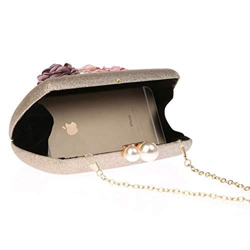 Gshe Embrayages Sac Bag Sacs De Main Sacs Strass Soirée De Fleur À Perle Banquet champagnegold De Mode Sac Sac Sacs pqprRxwz