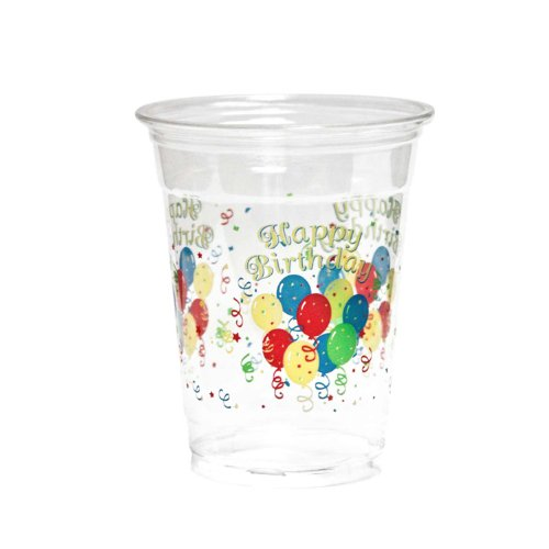 Party Essentials 20 Count Soft Plastic Printed Party Cups, 16-Ounce, Happy Birthday (Birthday Party Cups compare prices)