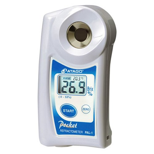 Atago 3810 PAL-1 Digital Hand Held Pocket Refractometer, 0.0 - 53.0% Brix Measurement Range