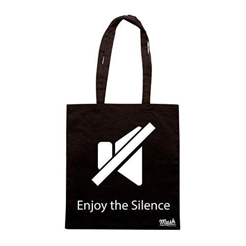 Borsa ENJOY THE SILENCE- SILENZIO LOL - Nera - MUSH by Mush Dress Your Style