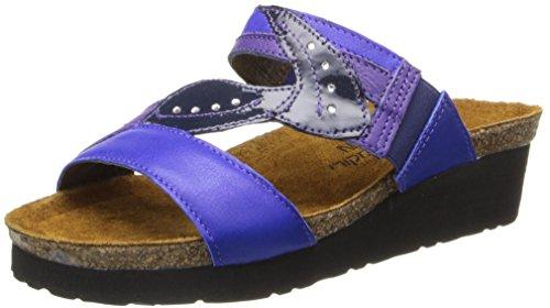 Naot Women's Kimberly Wedge Sandal - Royal Blue Leather/P...