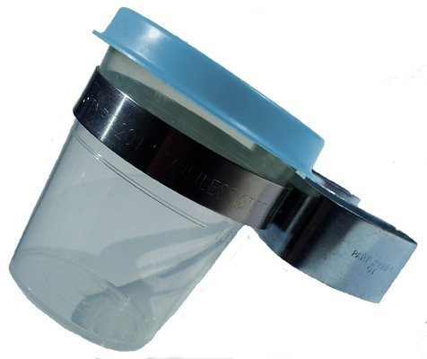 (Double Reed Soaker Cup with Stand Clip (Blue Lid))