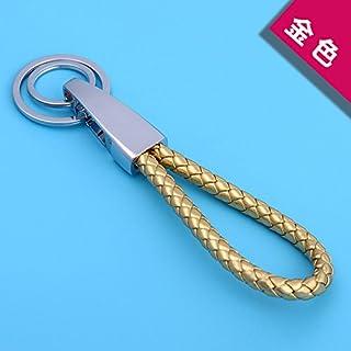 XiaoGao_ Cadeaux d'anniversaire romantique création de tissés à la main porte clé pendentif,Or