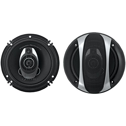 Power Acoustik GF-653 Gothic Series 350 Watt 6.5 inches 3-Way Speakers Pair (Power Acoustik Cone compare prices)