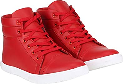 12ff437b78624 Vanni Obsession™ Men's Synthetic Leather Casual Sneakers Boots for Men and  Boys/Men's Boots Synthetic Leather High Top Casual Sneaker Shoes