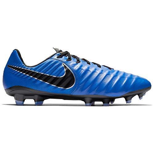 Nike Men Tiempo Legend VII Academy FG Firm-Ground Soccer Cleat (11.5 M US, Racer Blue/Black/Metallic Silver)