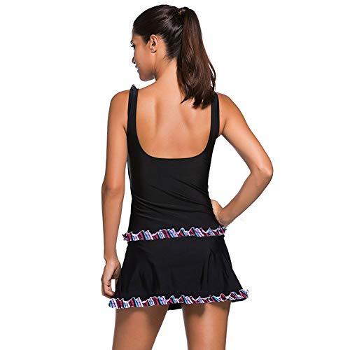 Da Black Vestito Flouncing Stampa Costume Bikini Di Set Due Reggiseno Bagno Femminile Pizzo Pezzi Wireless Nbe 041973 Imbottito Beach nv0wHSq0p