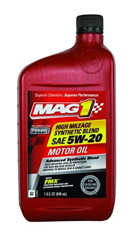 Mag 1 64829 Sae 5w 20 Synthetic Blend High Mileage Motor