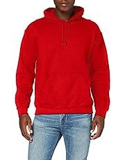 Gildan Huvtröja med tung vikt för män, röd, S