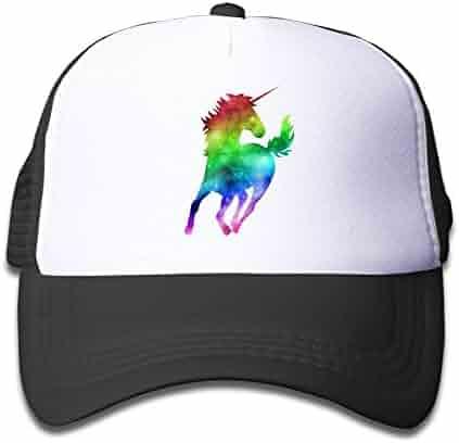 Waldeal Rainbow Galaxy Unicorn Boys Girls Mesh Cap Baseball Hat Cap  Adjustable 9b517c474d8f