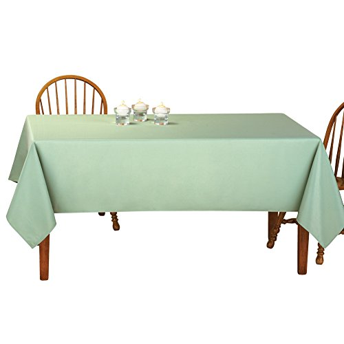 Tablecloth Basic (Collections Etc Basic Rectangular Tablecloth Table Linens, Sage Green, 60