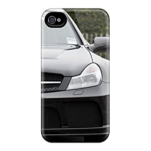 First-class Case Cover For Iphone 4/4s Dual Protection Cover Sl65 Amg Black Serie