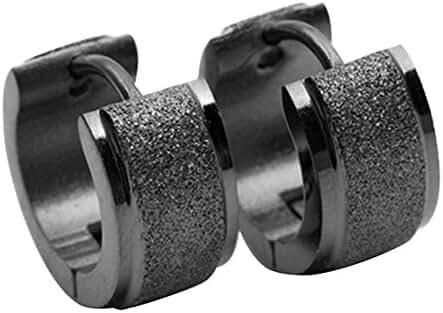 Sanwood® Jewelry Punk Mens Earrings Titanium Steel Small Huggie Hoop Earrings