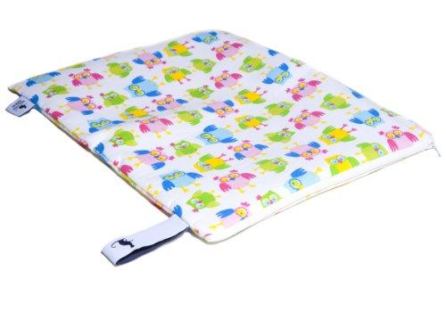 Mon Petit Bleu 5901323929908 Multi Use Bag - Multi-Funktions-Tasche - vielfach nutzbar, waschbar, wasserdicht und sogar lebensmittelecht - Muster Eulen, Größe M