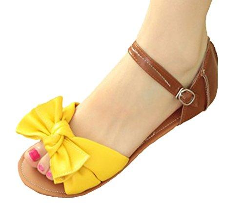 Insun - Sandalias de vestir de Material Sintético para mujer Amarillo - amarillo