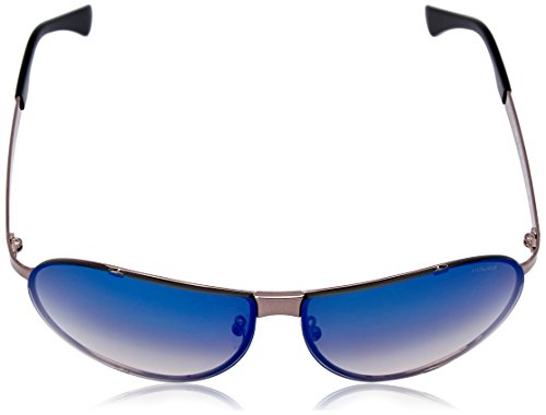 soleil de CUBE Aviator Homme 4 Mirror Gradient Gunmetal Shiny Police Cube Lens Frame Lunette Blue 4 wXF5xqE0