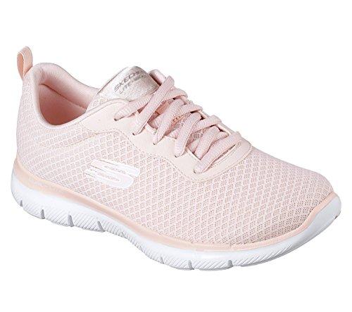 Skechers Womens Flex Appeal 2.0 - Newsmaker Sneaker, Light P