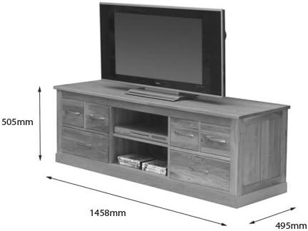 Forte de Roble Macizo Pantalla panorámica Mueble para televisor: Amazon.es: Hogar