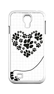 Cool Painting dog paw Snap-on Hard Back Case Cover Shell for Samsung GALAXY S4 I9500 I9502 I9508 I959 -1427