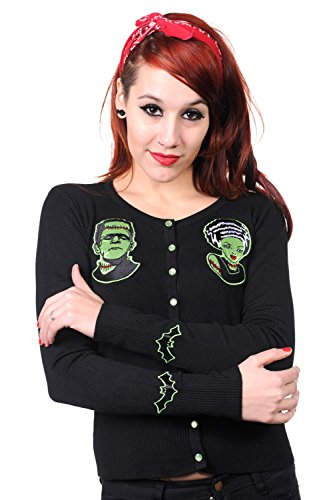 Banned-Frankenstein-And-Bride-Black-Cardigan