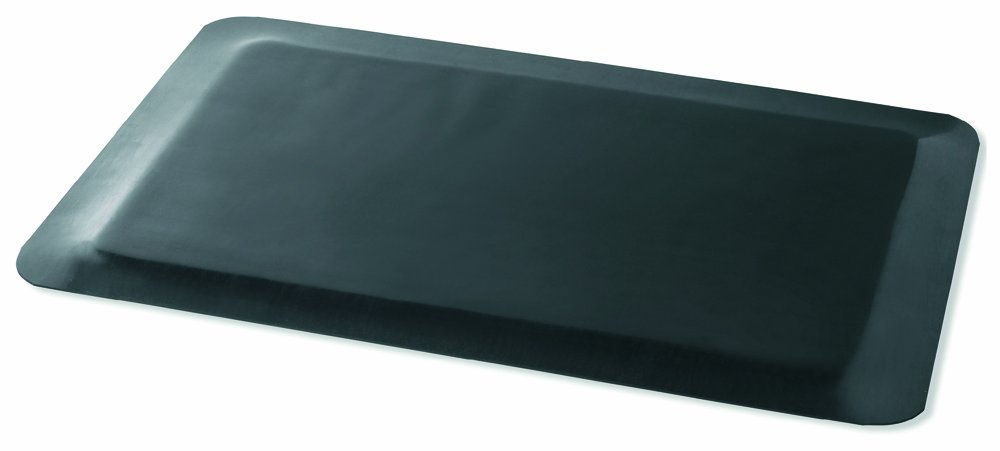 Black 18 Width x 48 Length x 1//2 Thickness 250S1848BK Durable Corporation Rubber Static Eaze Anti Fatigue Mat 18 Width x 48 Length x 1//2 Thickness
