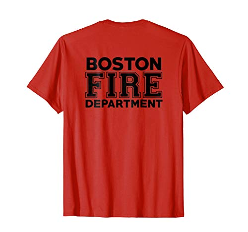 City of Boston Fire Department Massachusetts Fireman T-Shirt ()