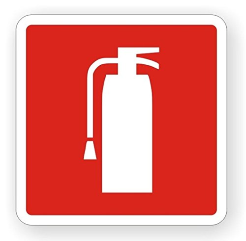 1-Pcs First-Class Popular Fire Extinguisher Car Sticker Sign Self-Adhesive Emergency Badge Vinyl Decal Size 4