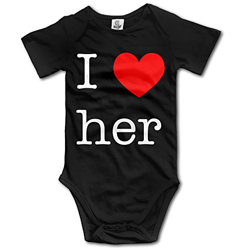 Flashdance Outfit (I Love Her Heart Logo Baby Onesie Unisex)