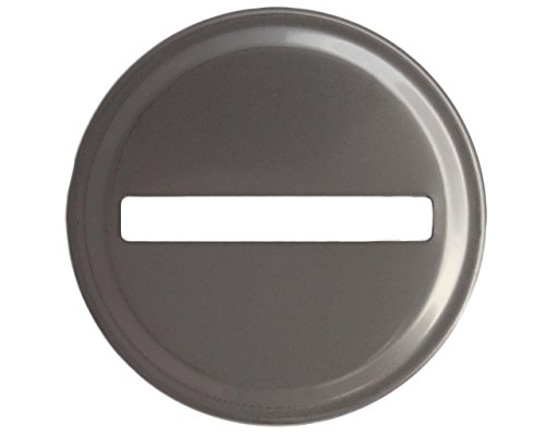 Stainless Steel Coin Slot Bank Lid Inserts for Mason, Ball, Canning Jars (10 Pack, Regular Mouth)