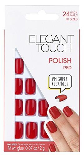 Elegant Touch Pre Poliert Nagel Rot Mit Super Selbstklebend Taben