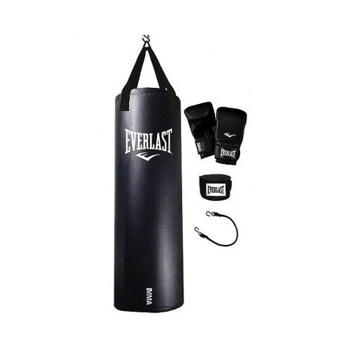 Everrlast Dual Station Heavy Bag Stand, 70-lb MMA Heavy Bag Kit and Speedbag by Everrlast (Image #1)