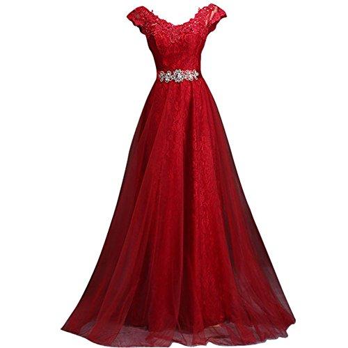 Drasawee Damen Drasawee Damen Rot Empire Kleid 70Uwxw