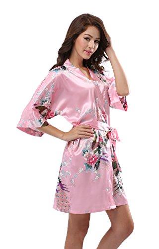 Luvrobes Womens Kimono Pockets Peacock