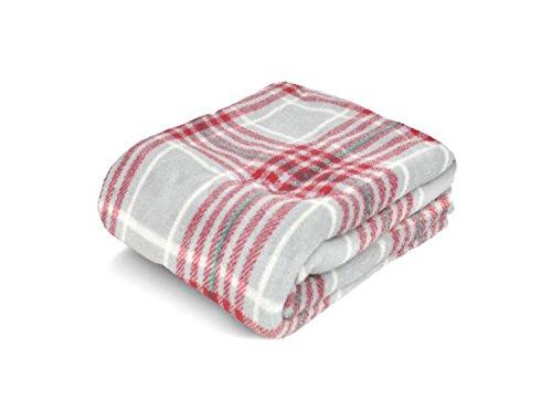 Christmas Holiday Time Plush Throw (Red Plaid)