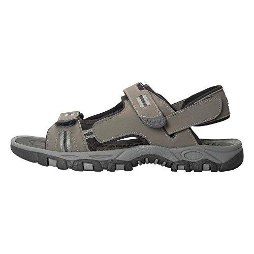 Mountain Warehouse Z4 Sandalen für Herren - Sommerschuhe mit Neoprenfutter, Klettverschluss, Flipflops mit Phylon-Zwischensohle, Wildleder - Für Reisen, Wandern Schwarz