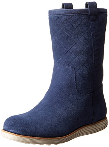 Cole Haan Womens Roper Grand Boot Blazer Blue Suede