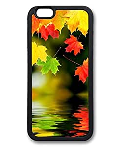 iPhone 6 Plus Case, iCustomonline Maple Leaf The Beauty Of Autumn Shell Soft Back Case Cover Skin for iPhone 6 Plus 5.5 inch - Black by mcsharks