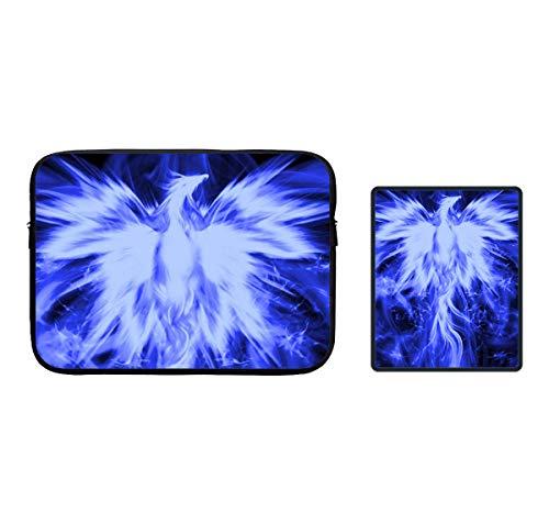 Blue Ice Phoenix Bird Zipper Waterproof Laptop Sleeves Neopr