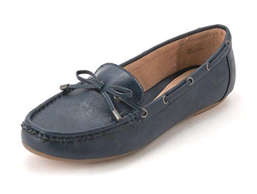 Boc-born Concepten Dames Carolann Moc Loafers, Blauw, Maat 8.0