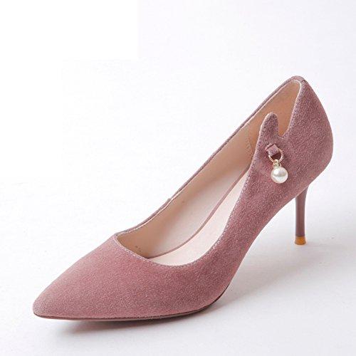 Calzado De La Moda Moderna/Zapatos Del Ocio Coreano Del/Zapatos De Moda/Señaló Zapatos De Tacón De Aguja A