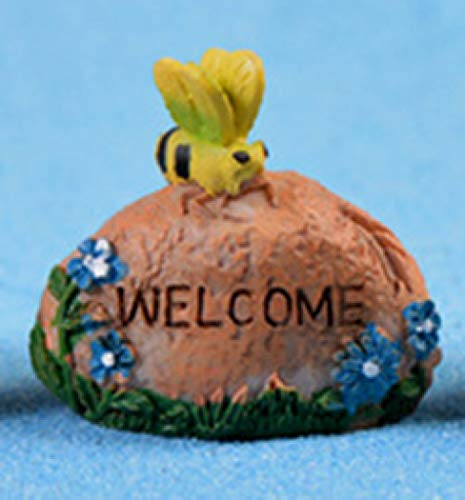 Animal Stone Welcome Statuettes Resin Micro Landscape Ornaments Lovely Garden Flower Pot Decoration Crafts